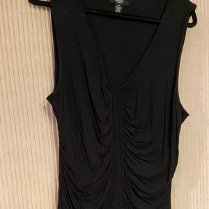 Alfani Tops - Black blouse with ribbed side